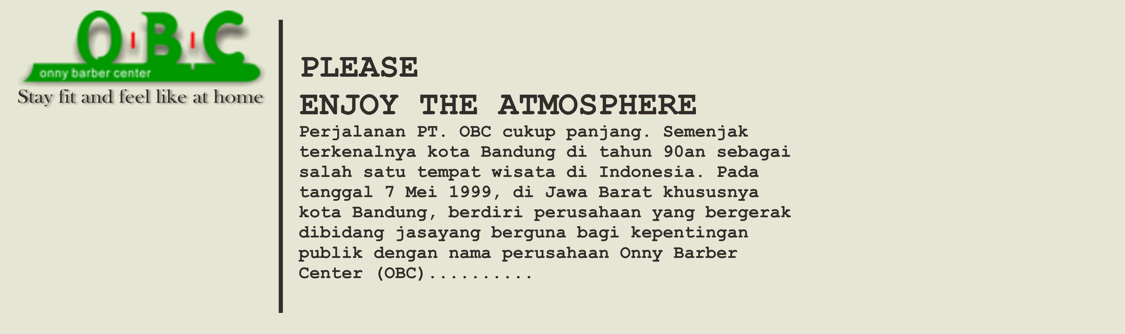 Please Enjoy The Atmosphere